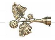 De Staaf Finial, de Goedkope Staaf Finials van het gordijn van het Gordijn van het Glas van de Kroonlijst Witte, Gekleurde
