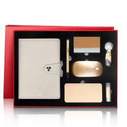 Executive Business Gifts Set logo in pelle PU Corporate Promotional personalizzato Notebook con set di cancelleria per ufficio
