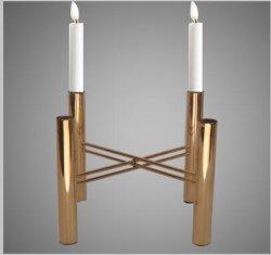 황금 4 테이블 조정 결혼식 훈장을%s 맨 위 철 촛대