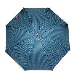 Blue/Black/Red Stripe Parasol هوت سالور فاشون لادي فلاور ستريب الكورية مظلة مستقيمة مطلية بالفضة فوق البنفسجية