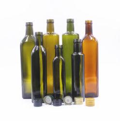 На складе 100ml 250 мл, 375 мл 500ml 750 мл 1000 мл темно зеленый коричневый круглые квадратные Marasca оливкового масла в стеклянные бутылки