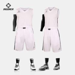 Rigorer Baloncesto jersey tejido de malla marca de ropa deportiva mayorista Mens se adaptan a la sublimación transpirable