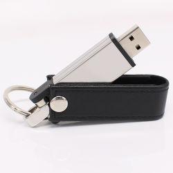 가죽 USB 플래시 드라이브 8GB 16GB 32GB 프로모션 전시회 선물 로고 사용자 지정 USB 플래시 드라이브(UL-L004)