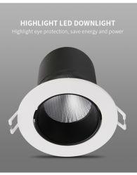 7W LED Dimmable e la PANNOCCHIA dell'interno registrabile degli indicatori luminosi del punto di colore giù si illuminano