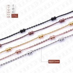 Custom ювелирные изделия из нержавеющей стальной шарик цепочка рельефная Cross Link цепей для женщин