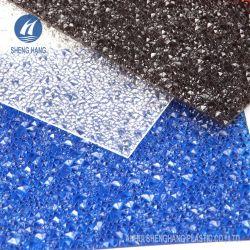 سعر المصنع لوحة بلاستيك الماس لوحة سطح الكمبيوتر البوليكربونات منقوش عليها أوراق صلبة