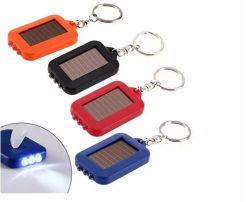 Lumière LED en plastique ABS Rechargeable Trousseau solaire 3 LED