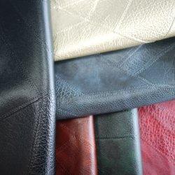 Umweltfreundliche neue kundenspezifische Gewebe prägten Kunstleder-Gewebe-Produktefaux-Chemiefasergewebe