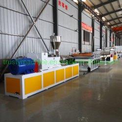 WPC/placa de espuma de PVC/exposición/línea de maquinaria de extrusión de hojas