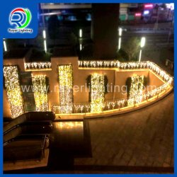 144 LED LED Iluminación decorativa Icicle Cadena Blanco cálido de las decoraciones de Navidad