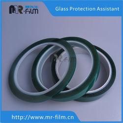 Silikon-druckempfindlicher Kleber-Grün-Haustier-Hochtemperatur, die industrielles grünes Polyester-Band abdeckt