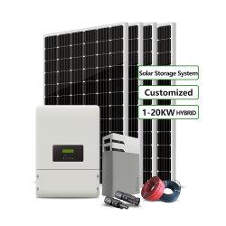 Nouveau design 1kw 5 kw 10kw 20kw Système Solaire Hybride Accueil générateurs de stockage d'énergie