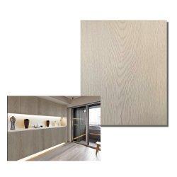 Película de grãos de madeira de carvalho branco laminagem de chapa de aço de metal para decoração porta do gabinete
