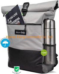 Sac à dos Rolltop Multicolor des hommes et femmes avec compartiment Daypack sacoche pour ordinateur portable idéal pour l'École de grande capacité de l'université et les voyages d'emploi gris