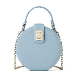 Neueste Damen Schultertaschen Blau Schlangenleder Runde Taschen mit Kette Hochwertige PU Custom Brand Frauen Crossbody Tasche