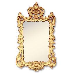 벽 장식을%s 예술적인 공상 금 최고 Polyurethane Mirror Frame