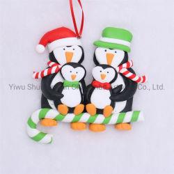 Polímero de Natal da argila com a família Claus para Holiday casamento festa fontes de decoração ornamento do Gancho de dons artesanais