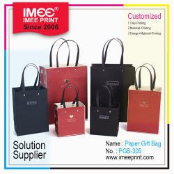 L'impression Imee Eco Friendly plastique promotionnelle des cordons d'artisanat de Shopping de papier Kraft Sac cadeau
