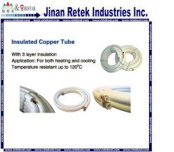 O condicionador de ar tubo isolados com isolamento de cobre de CA