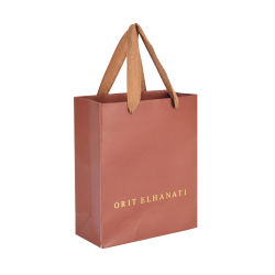 Venda por grosso de Kraft Marrom reutilizáveis sacos de papel comercial de produtos cosméticos