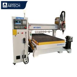 4 gravura do Eixo/cortar/perfuração/moenda de madeira MDF acrílico 1325 Atv Itália Fuso Madeira gravura CNC Router Preço da máquina com o botão rotativo