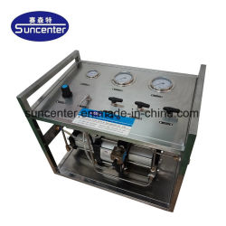 Suncenter Modell: Bewegliche pneumatische flüssige Druck-Zusatzstation für Ventil-und Rohr-hydroprüfung