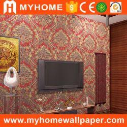 2017 China New Big Flower Damask Wall Paper PVC Vinyl Wallpaper for Home Decorative ( 2017 年中国ビッグフラワーダマスクウォール PVC ビニール壁紙、家庭用化粧