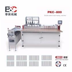 كتيب محطة مزدوجة شبه أوتوماتيكي يغطى ماكينة صناعة ماكينة/علبة الحاوية الواقية