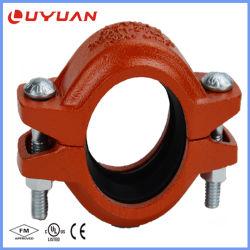 Raccord de tuyau cannelé en fonte ductile avec FM/UL/Approbation CE