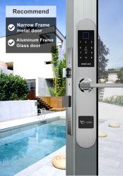 생물 측정 지문 Pin 부호는 유리제 알루미늄 자물쇠를 위한 디지털 자물쇠를 카드에 적는다