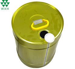18L'huile du moteur du tambour avec couvercle en plastique de rétrécissement à trous ronds