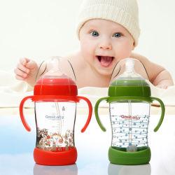 160 мл/220мл/280мл СИЛИКОНОВОГО ГЕРМЕТИКА базы детского стеклянные бутылочки для кормления воды бутылки молока с помощью рукоятки