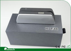 Silberner Magstripe Kartenleser u. Verfasser, Exemplar oder vergleichen oder Verschlüsselung-Karten-Daten, Msrx6
