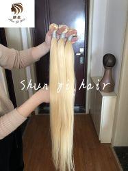Großhandelskarosserien-Wellen-Menschenhaar-blondes brasilianisches Haar des jungfrau-Haar-unverarbeitetes Brasilianer-613