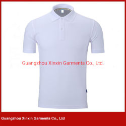 저가 중국제 백색 보통 폴로 셔츠 (P490)