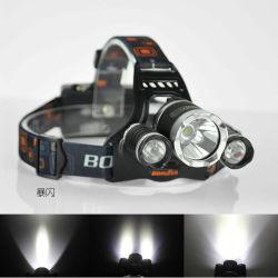 Faro ricaricabile di campeggio di caccia 18650 3 T6 LED di Boruit 5000lm