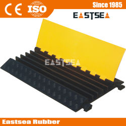 Heavy Duty Rubber 5 Canal Floor Cover Câble