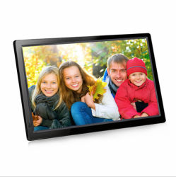Toque em WiFi de 27 polegadas filmes quente MP4 Digital Photo Frame