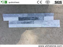 Blanco/Gris pizarra cuarcita para techos/techo//Piso/Piso/pared de pavimentación y revestimiento de mosaico/