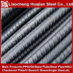 6-32 mm Verformte (HRB335) Gerippte Stahl-Stahlbetonverstärkung Mit Schraubgewinde, Verformte Stahlstange aus Eisen