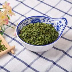 부피는 유기 야채 양미나리 잎 조각을 말렸다