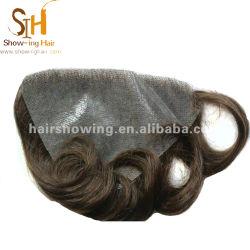 Custom piel delgada cabello la sustitución de sistemas
