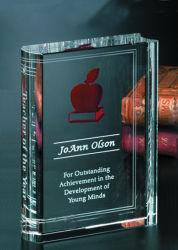 個人化された水晶聖書、宗教ギフトのためのクリスタルグラスの本
