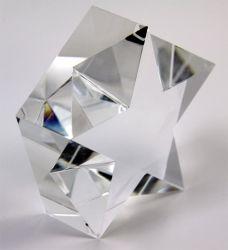 Trophée de verre optique Engravable vide