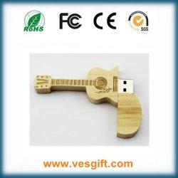 Stok van het Geheugen van de Gitaar USB van het Ontwerp van de manier de Houten