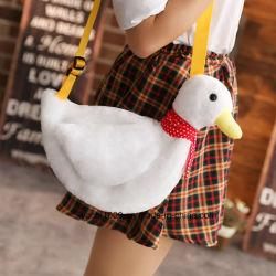 Dulce mayorista juguete pato de felpa de la mujer en el bolso, lindo Bag para niñas