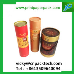 Boîte à thé de la cartouche sur mesure à l'emballage du papier cylindrique Emballage jar de l'emballage de thé