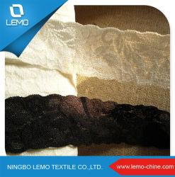 Usine de tricot de gros de la dentelle Dentelle avec du nylon Spandex