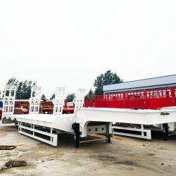 Aanhangwagen van de Vrachtwagen van de Container van Hino van het Bed van de tri-As van het Paard van het vervoer de Kleine Vlakke Lage Dek Gekoelde 20FT Semi