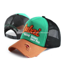 Мода рекламных Destory вымыта Trucker Red Hat с ячеистой сети